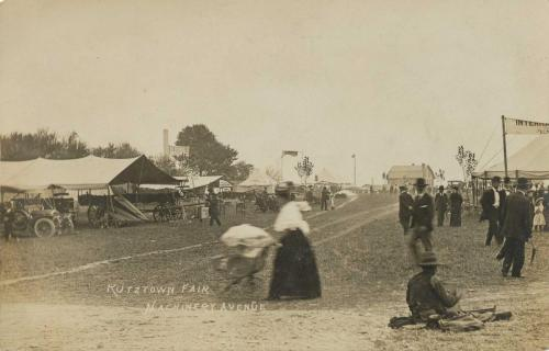 Kutztown Fair - roadway, lady with baby