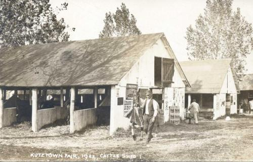 Kutztown Fair - 1922, cattle shed